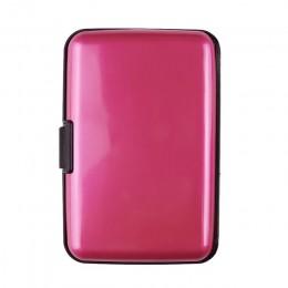 Wodoodporne męskie Rfid Travel plastikowe etui na karty etui na karty kredytowe identyfikator firmy portfel na karty etui błyszc