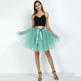 Spódnice damskie 7 warstw Midi spódnica z tiulu moda spódnice Tutu kobiety suknia balowa Party halka 2020 Lolita Faldas Saia