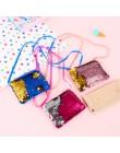 UOSC 2019 nowych moda dzieci monety kiesy Mini Paillette monety portfel syrenka cekiny worki na pieniądze Cartoon zmień portfele