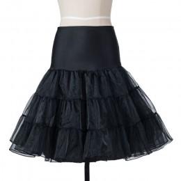 Spódnica Tutu swing halka Rockabilly podkoszulek puszysta warstwowa spódnica na ślub ślubny Vintage 50s Audrey hepburn kobiety s