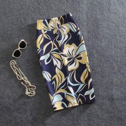 Kobiety spódnice Vintage kwiatowy nadruk wysoka talia obcisła spódnica Slim, Midi podział Sexy spódnice ołówkowe kobiet Falda 24