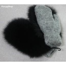 2019 nowych kobiet mody Brand new oryginalne wełniane futra lisa pokryte zimowe rękawiczki rękawiczki prawdziwe futro z lisa luv