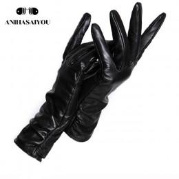 2019 moda nowe produkty zimowe skórzane rękawiczki krótka skórzana rękawiczki damskie nadgarstek zaostrzenie projekt zimowe skór
