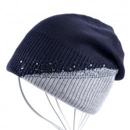 Zimowe czapki z dzianiny damskie dżety kolor szwy czapki czapki damskie na zewnątrz niebo Bonnet kapelusz dziewczyny Skullies To