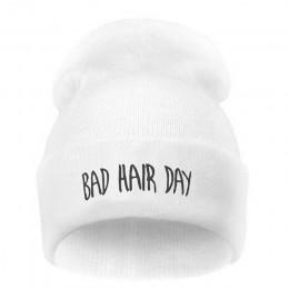 Moda Sport ciepłe czapki zimowe złe włosy dzień list czapki czapka kobiety mężczyźni kapelusz czapka z dzianiny czapki hip-hopow