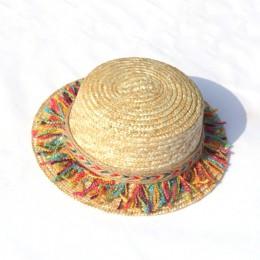Lato rodzic-dziecko kapelusz przeciwsłoneczny stanie kobiet osłona przeciwsłoneczna kapelusz kokardka dla dziewczynek słomkowy k