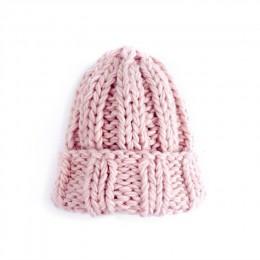 Gruba czapka czapka zimowa damska czapka zimowa dzianinowa czapka cieplej gruba miękka czapka narciarska Lady Bonnet Skullies cz