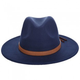 2019 ciepły, jesienny, zimowy kapelusz słońce kobiety mężczyźni kapelusz Fedora klasyczny szeroki rondo czuł Floppy Cloche Cap C