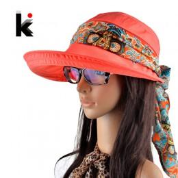 Kapelusze letnie dla kobiet chapeu feminino new fashion czapka z daszkiem czapka przeciwsłoneczna składany kapelusz przeciwko uv