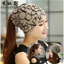 Koreańskie kobiety wiosna jesień zima ciepłe pokrycie nakrycia głowy czapki zimowe szalik dzianiny kapelusz Hip-hot Skullies Gir