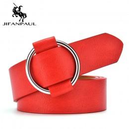 JIFANPAUL damska wysokiej jakości moda bez igły okrągły otwór klamra ze stopu dżinsy z pań retro pasek studencki darmowa wysyłka