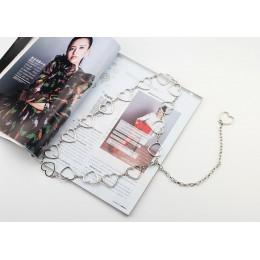 Pasek na ubrania damska moda damska metalowe liście łańcuszek z sercem łańcuch do paska złoty wąski metalowy łańcuszek Chunky fr