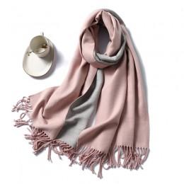Zimowy szalik kaszmirowy kobiety grube ciepłe szale okłady pani stałe szaliki moda frędzle Pashmina koc jakości foulard 2020 now