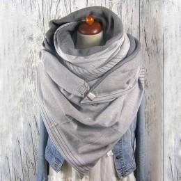 Moda kobiety Soild Dot drukowanie przycisk miękki szal dorywczo ciepłe szaliki szale szalik kobiety Bufanda Mujer