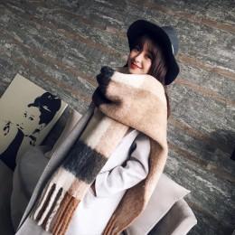 New arrival jesień zima kobiety dziewczęta podwójne boki dziki miękki temperament gruby szalik świeża wełna wygodny trend ciepły