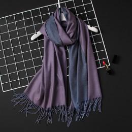 2020 zima kobiety szalik moda stałe miękkie kaszmirowe chustki dla pani Pashmina szale koc do owijania chustka kobieta Foulard T
