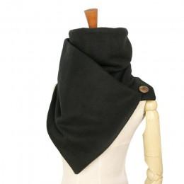 Szalik z kapturem szyi cieplej szalik szalik kobiety mężczyźni moda zimowa szaliki i bluza z kapturem przycisk pętli przez Couve