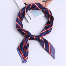 60*60cm kwadratowy szalik opaska do włosów zespół kobiety elegancki mały Vintage cienki szalik Retro głowy szyi jedwabny szal, k