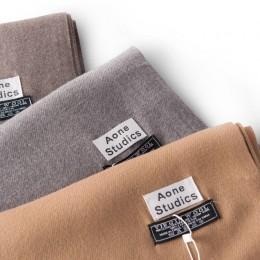 2018 nowy nabytek jednolity kolor zwykły kaszmirowe chustki z pomponem kobiety zima grube ciepłe szalik wełniany szal wrap marka