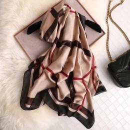 Luksusowe marki jedwabny szalik letnie kobiety damskie chusty damskie szlafrok na plażę szyfonowa chusta bandanna ochrony przeci