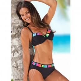 Tengweng 2020 Bikini Push up Bandeau drukuj kwiecisty strój kąpielowy Plus rozmiar stroje kąpielowe Halter plaża wyciąć brazylij