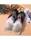 2020 nowe bezszwowe Sexy biustonosze kobiety moda Push Up biustonosz bez fiszbin bielizna 3/4 biustonosz nieusztywniany bawełnia