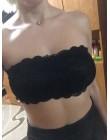 Biustonosz bandeau 2018 lato marka biustonosz bez ramiączek damska seksowna swobodna koronka Wrap Tube top w stylu bandeau krótk