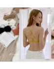 IMBOBO bawełniany biustonosz krzyż piękny tył bandeau styl mała klatka piersiowa bielizna damska bez stalowego biustonosza letni