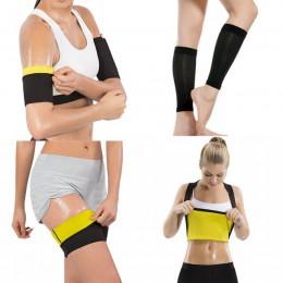 Nowe damskie czopiarki pot Sauna wyszczuplająca koszulka urządzenie do modelowania sylwetki ramiona rękawy ochraniacze na kolana