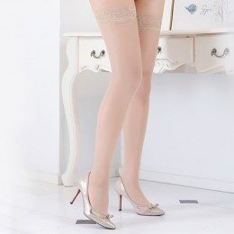 1/2 pary seksowne pończochy dla kobiet przezroczysta koronka Top udo wysokie pończochy sieci dla kobiet kobiece pończochy czarny
