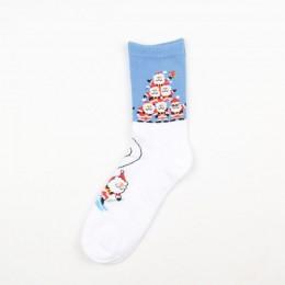Nowa jesienno-zimowa nowy rok święty mikołaj boże narodzenie śnieg ełk prezent skarpetki długa skarpeta bawełniane skarpetki męż
