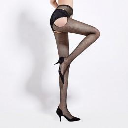 BONAS 6 sztuk kobiety otwarte krocza rajstopy kabaretki Sexy najnowsza diamentowa siatka rajstopy nylonowe pończochy kobiece Lad