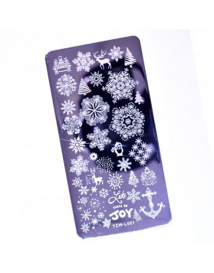 2020 nowości pieczątka na paznokcie szablon do tłoczenia paznokci kwiat geometria zwierzęta DIY wzory paznokci Manicure płytka z