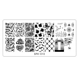 Halloween boże narodzenie Nail stemplowanie płytki Nail Stamp polski obraz Nail artystyczny obraz 6.2*12.5 Konad Stamp Stamping