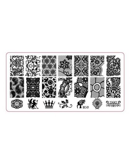 Zestaw warstw stemplujących na paznokcie skrobak Stamper lakier do paznokci ze znaczkami plastikowe DIY zestaw szablonów do pazn