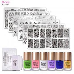 BeautyBigBang 14 sztuk/zestaw szablon do stemplowania paznokci zestaw wody marmuru paznokci Stamper z wyczyść galaretki pieczęć