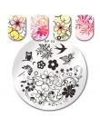 BORN PRETTY 6*6cm kwadratowe tłoczenie paznokci koronki kwiat zwierząt wzór pieczątka na paznokcie tłoczenie szablon płytka z ob