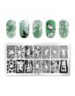 PICT YOU geometryczne płytki do tłoczenia paznokci DIY pieczątka na paznokcie szablony ze stalowymi ćwiekami narzędzia do tłocze