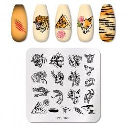 PICT You seria plakatów ze zwierzętami płytki do tłoczenia paznokci warstwa pieczątek do paznokci ze stali nierdzewnej wzornik n