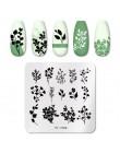PICT YOU seria kwiatowa tłoczniki do paznokci naturalne kwiatki liście lawendowe szablony do tłoczenia koronek DIY szablon artys