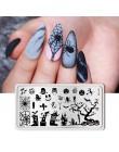Płytki do stempli born pretty kwiaty lampion w kształcie dyni Bat Mix obraz do dekoracji paznokci (kształt prostokątny) szablon