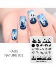 KADS Nature Series inny projekt płytki do stemplowania paznokci motyl szablony górskie DIY obraz zestaw talerzy do Manicure