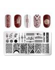 PICT You Snow Winter okrągłe płytki do tłoczenia paznokci warstwa pieczątek do paznokci Design Manicure DIY płyta ze stali nierd