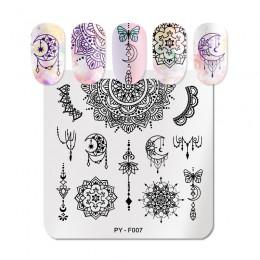 PICT YOU seria mandali stemplowanie paznokci płytki geometryczne siatka kwiat Nail Art stemplowanie szablony obrazów Stamp Plate