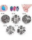 Płytki paznokci wzory 10 sztuk paznokci tłoczenia płyty polski szablony do paznokci szablon Case wyczyść skrobak stempel do pazn