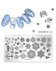 1 sztuk paznokci tłoczenia talerze świąteczne płatki śniegu święty mikołaj zima pieczątka na paznokcie szablon płytka z obrazkie
