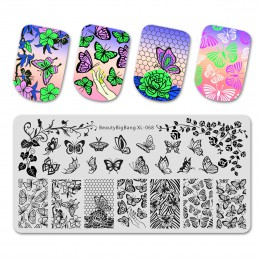 BeautyBigBang stempel ze stali nierdzewnej na paznokcie sztuka kwiat wzór liścia paznokci tłoczenia płyty szablon DIY narzędzie