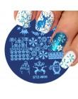 1 sztuk boże narodzenie Halloween tłoczenia płyty szablony do paznokci płatki śniegu czaszka polski szablon Manicure DIY pieczęć