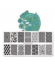 SHOPANTS płytki do stemplowania paznokci elementy chińskie wzory z wodnego świata Nail Art DIY Design płytka z obrazkiem wzornik