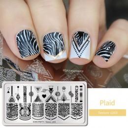 BORN PRETTY płytki do tłoczenia paznokci nieregularna geometria pieczątka na paznokcie szablony szablony Design polski manicure